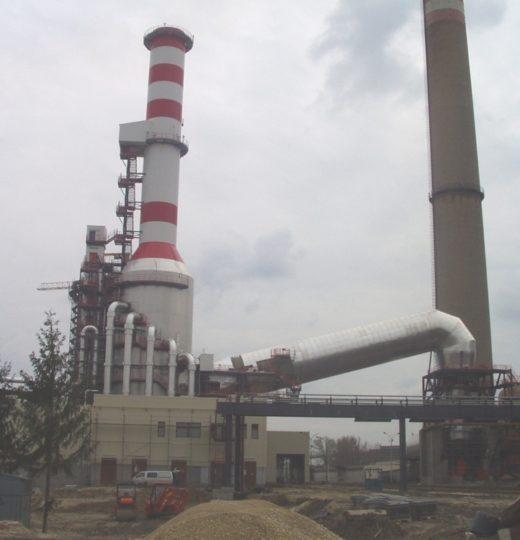 Oczyszczalnia spalin przy elektrowni w Oroszlanach (Węgry)